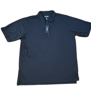 Fairway And Greene Black Mens Golf Polo Size Extra